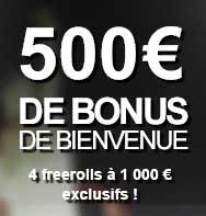500€ de bonus