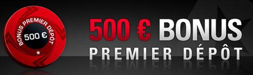 500€ de bonus en telechargeant pokerstars